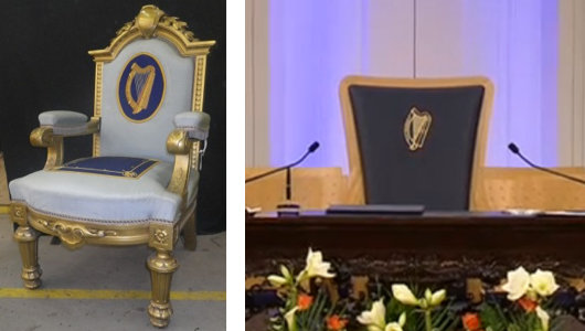 ireland s viceregal throne replaced