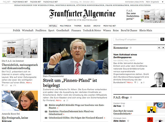 Faz And The Art Of Newspaper Web Design Andrewcusack Com