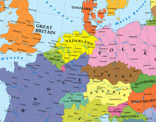 A map of Germany carved amongst her neighbors  Alternate Timelines