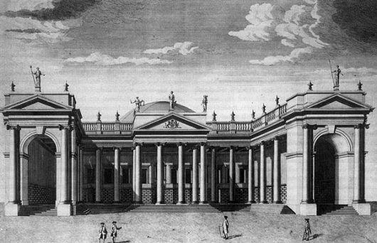 The Façade And Dome Of Pearceu0027s Original Structure.