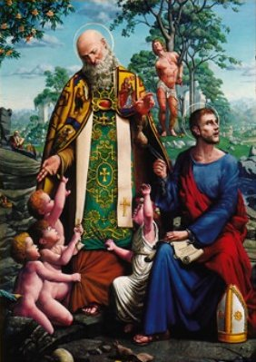 An early depiction of St Nic - History and Origin of Santa Claus